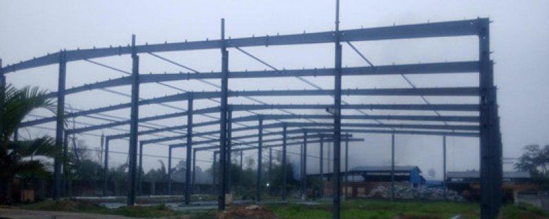 普尧产品有限公司钢结构仓库即将建成