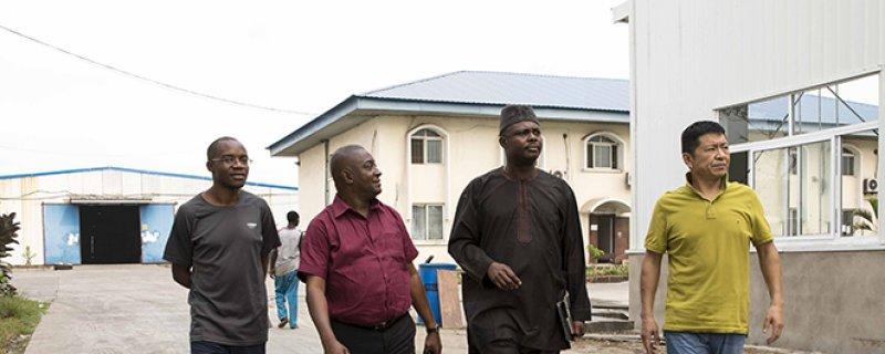 尼日利亚腰果协会主席Tola先生访问普尧产品有限公司