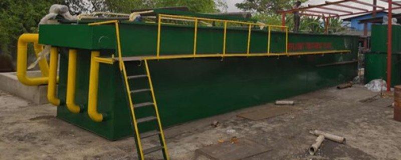 普尧产品有限公司污水处理设备安装完毕
